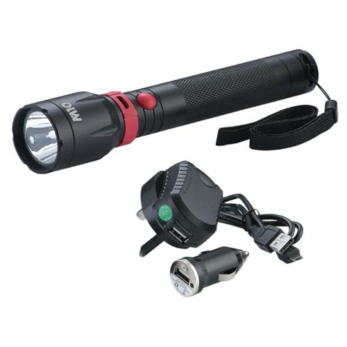 m10 aluminium rechargeable 5w led flashlight le 285